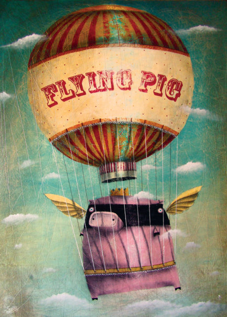 4szt_50x70cm_Flying_Pig